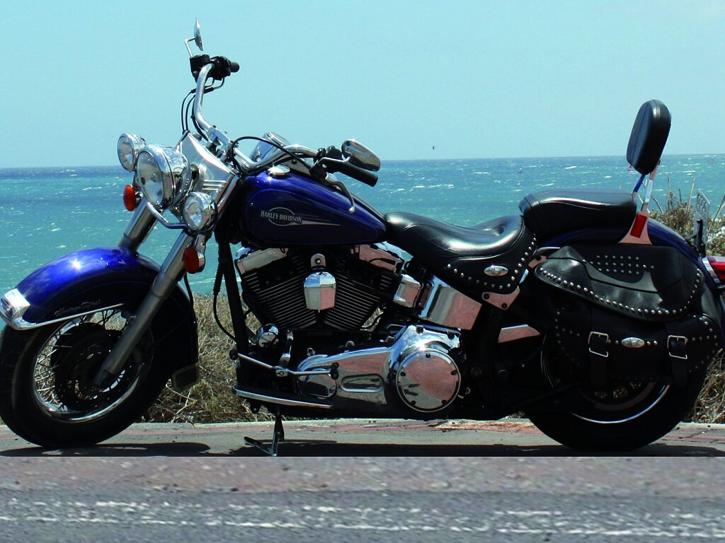 2007 Harley-Davidson FLSTC Heritage moto en alquiler (1)