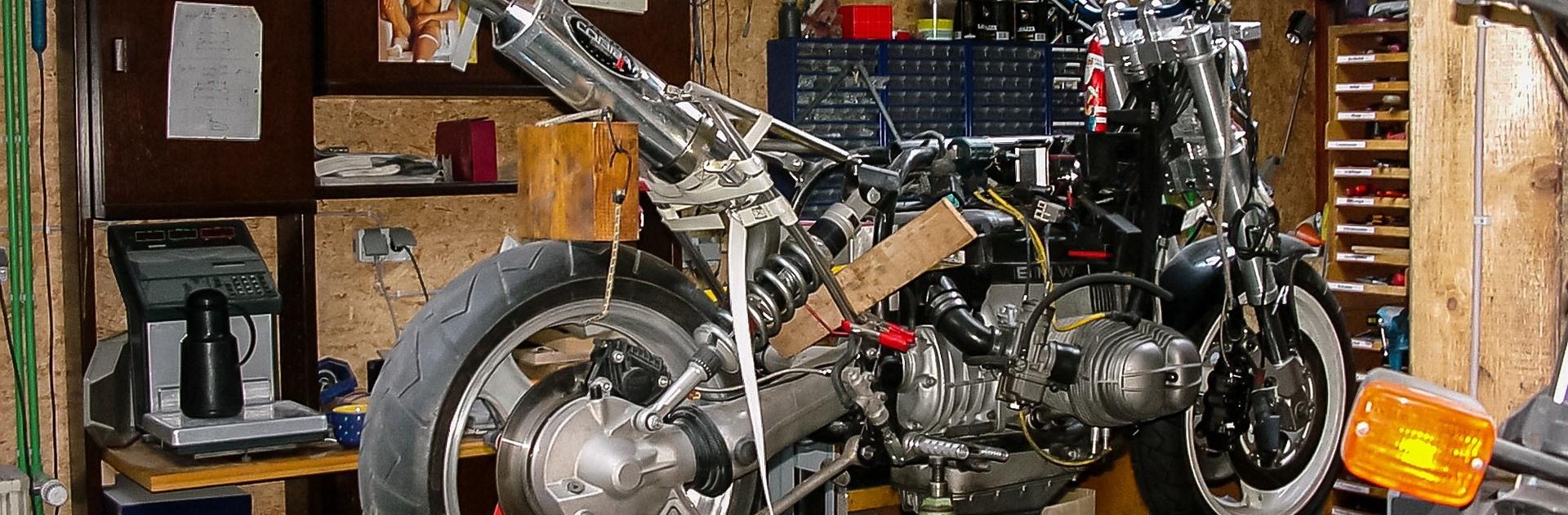 Foto: Motor in winterstalling