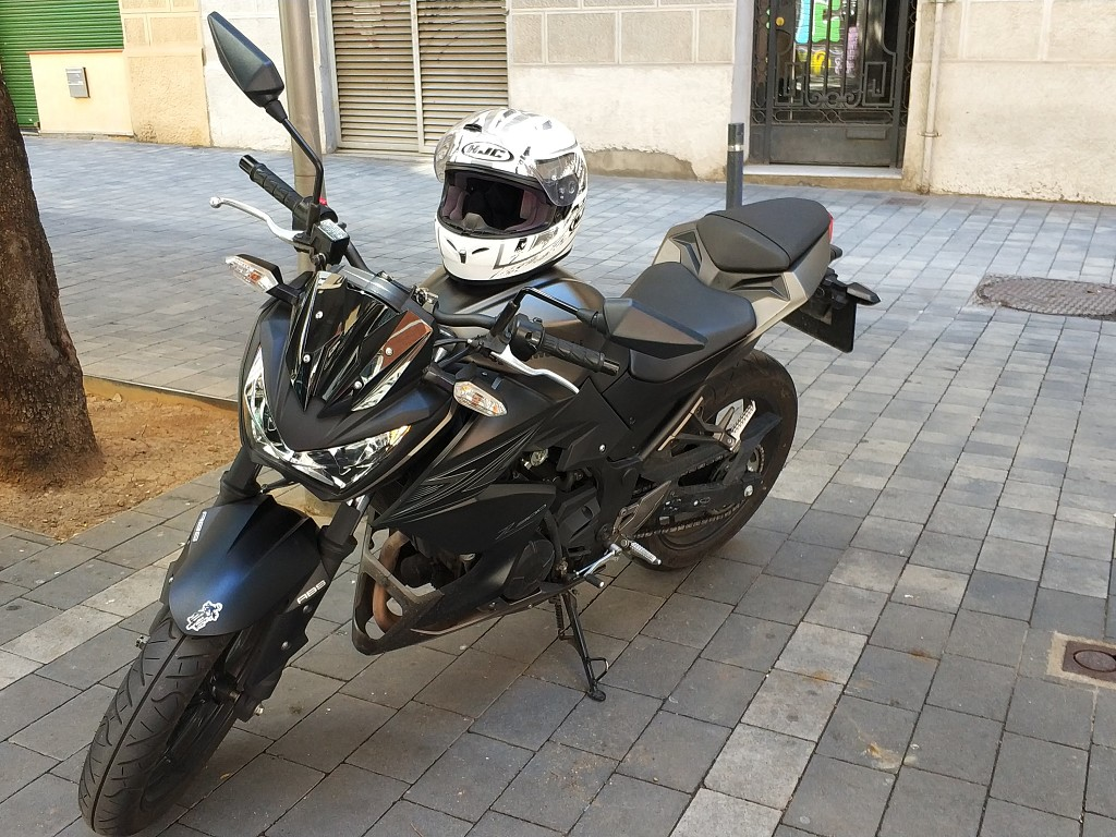Kawasaki Z300 moto en alquiler (1)