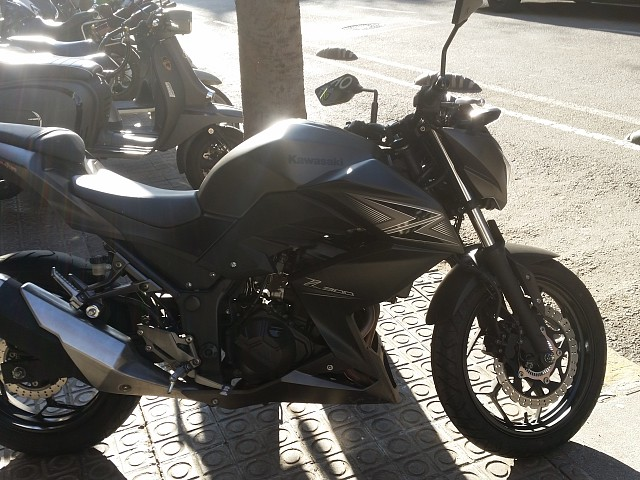 Kawasaki Z300 moto en alquiler (2)