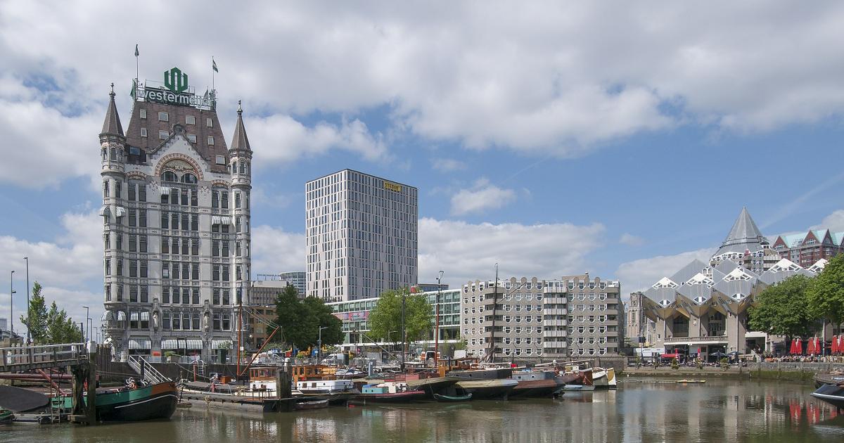 Gebouwen aan water: Rotterdam Oudehaven Motor